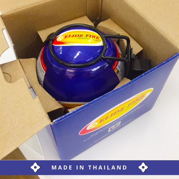 Mini ELIDE FIRE® Automatic Fire Extinguishing Ball 400±10 g. with Metal holder for Cars / Engine room installation